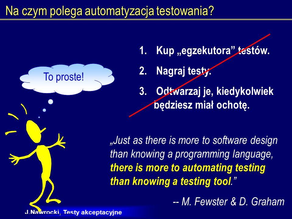 Na czym polega automatyzacja testowania