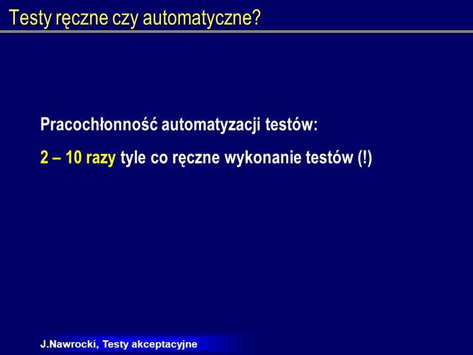 Testy ręczne czy automatyczne