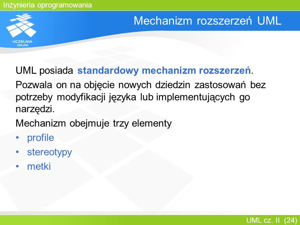 Mechanizm rozszerzeń UML