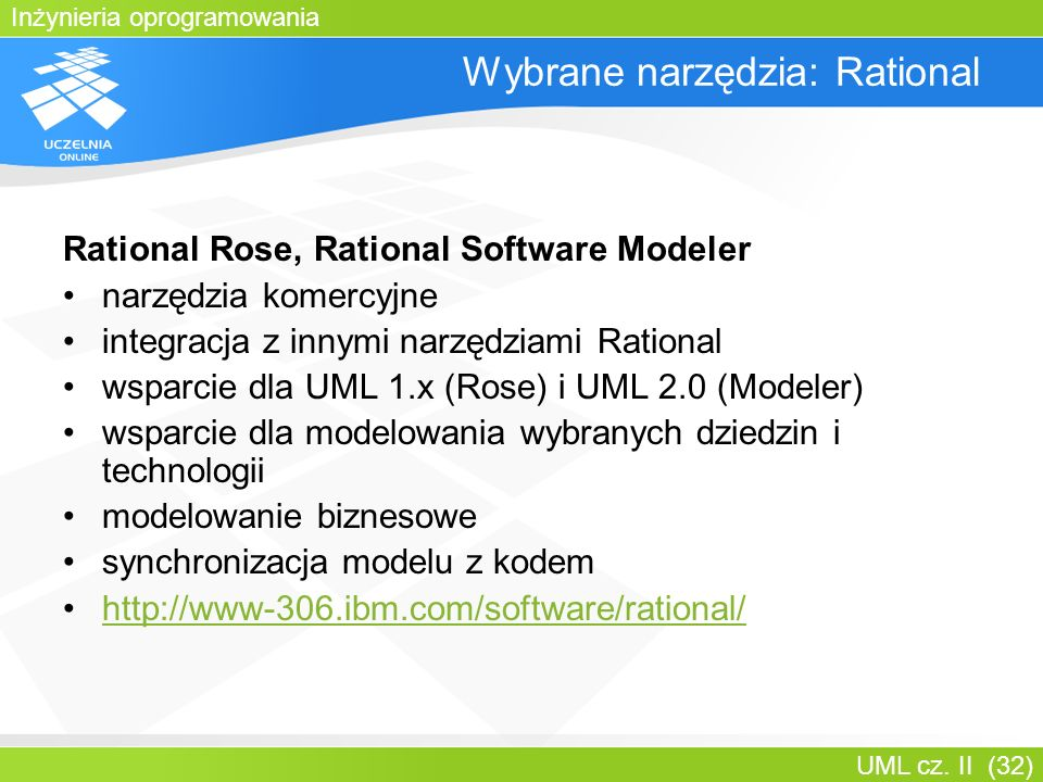 Wybrane narzędzia: Rational