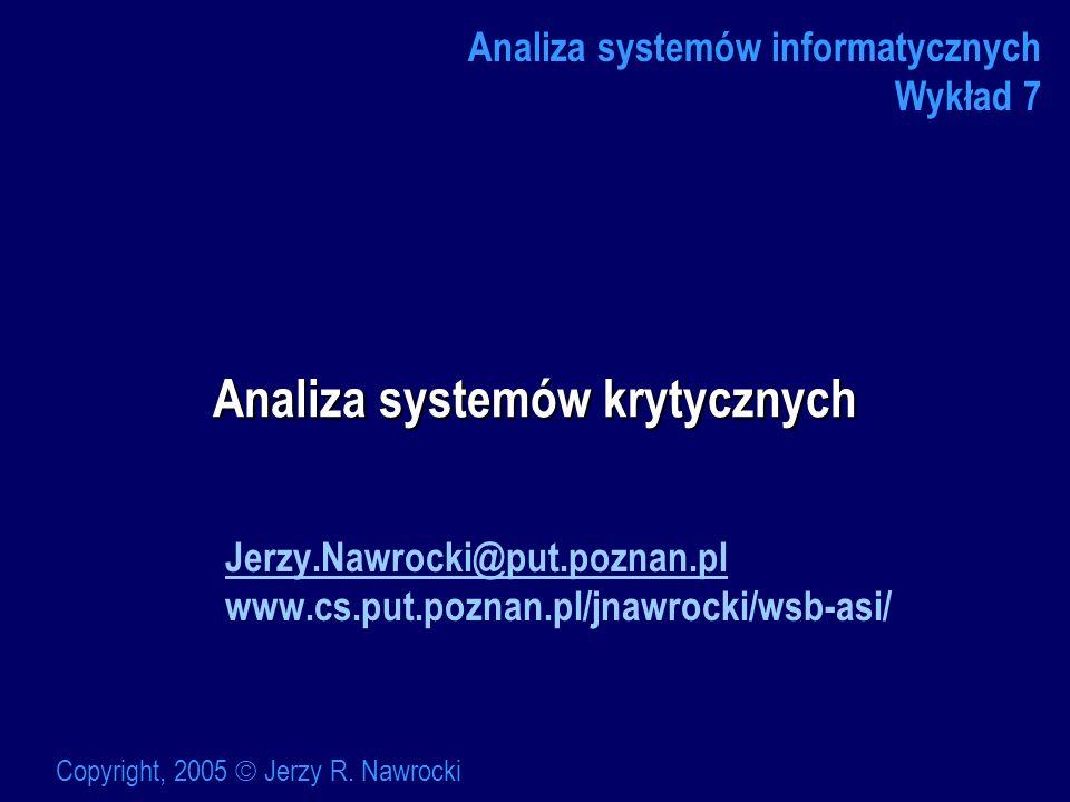 Analiza systemów krytycznych