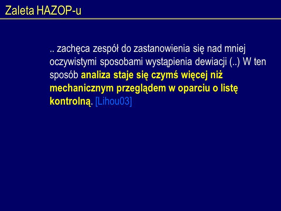 Zaleta HAZOP-u