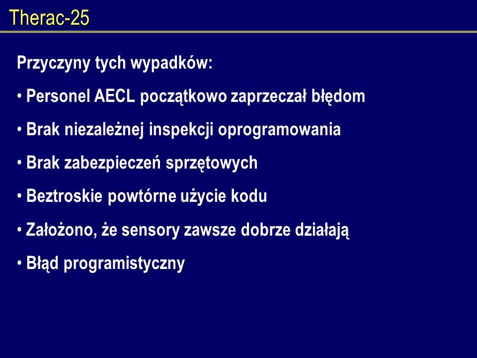 Therac-25 Przyczyny tych wypadków: