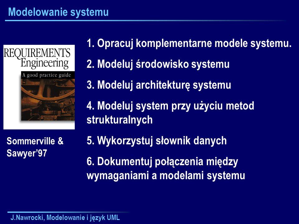 1. Opracuj komplementarne modele systemu.