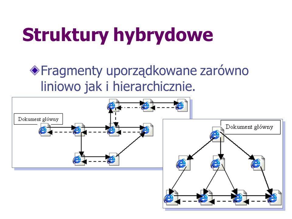 Struktury hybrydowe Fragmenty uporządkowane zarówno liniowo jak i hierarchicznie.