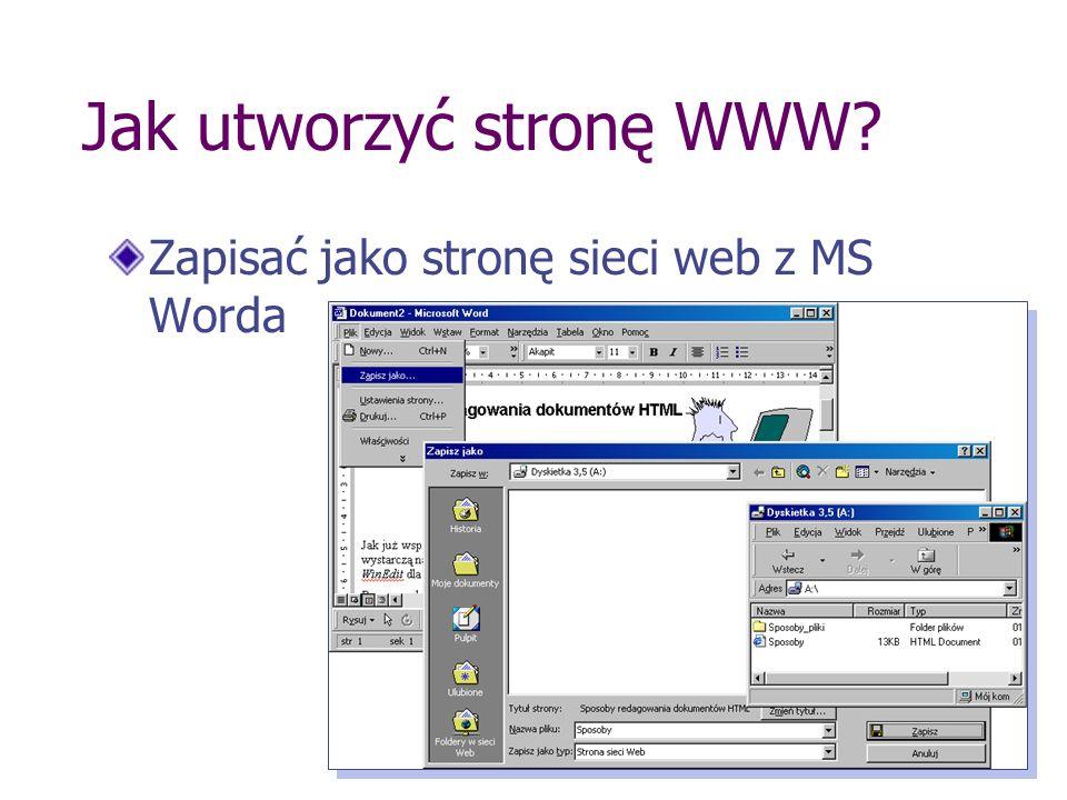 Jak utworzyć stronę WWW