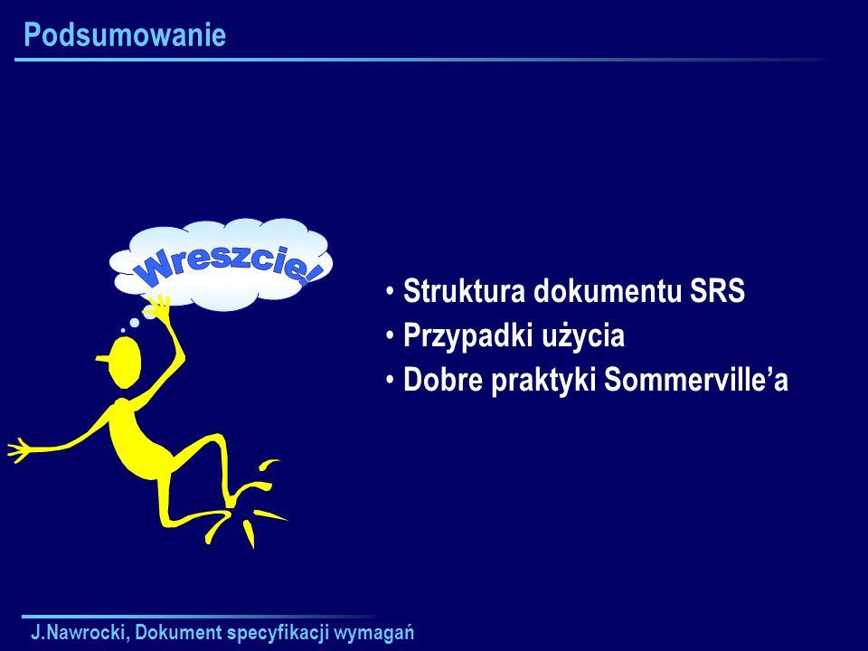 Wreszcie! Podsumowanie Struktura dokumentu SRS Przypadki użycia