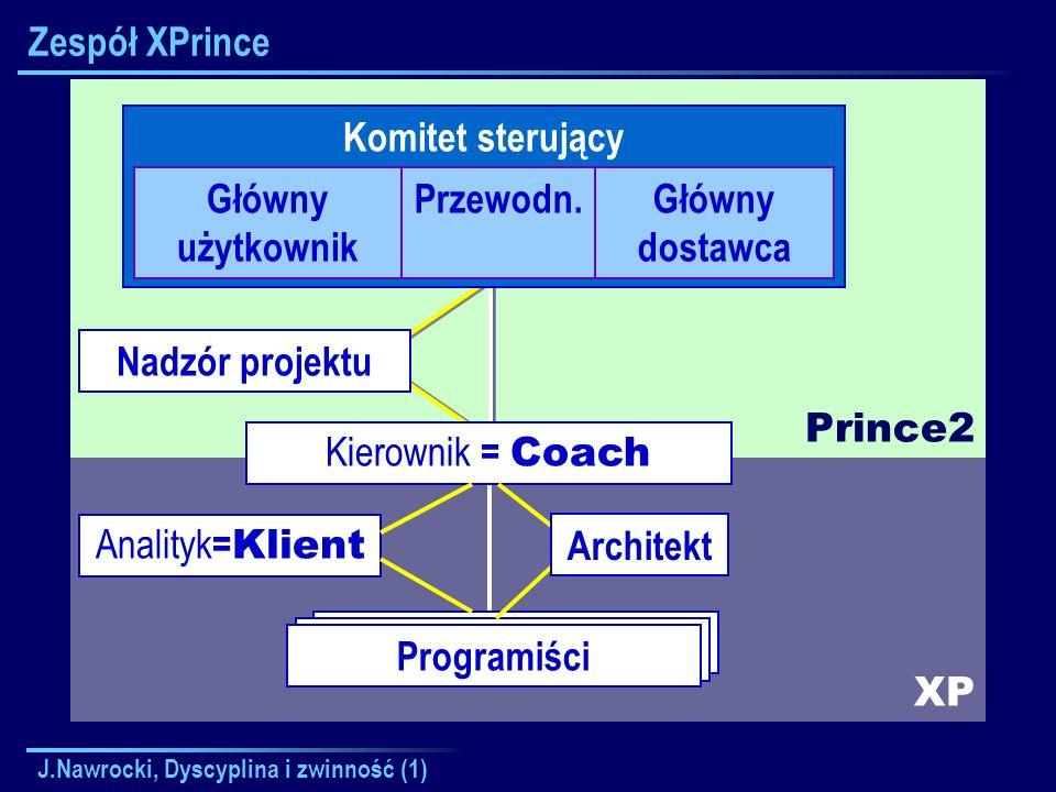 Zespół XPrince Prince2 Komitet sterujący Główny użytkownik Przewodn.