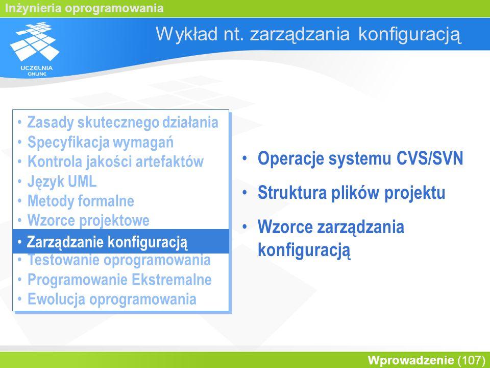 Wykład nt. zarządzania konfiguracją