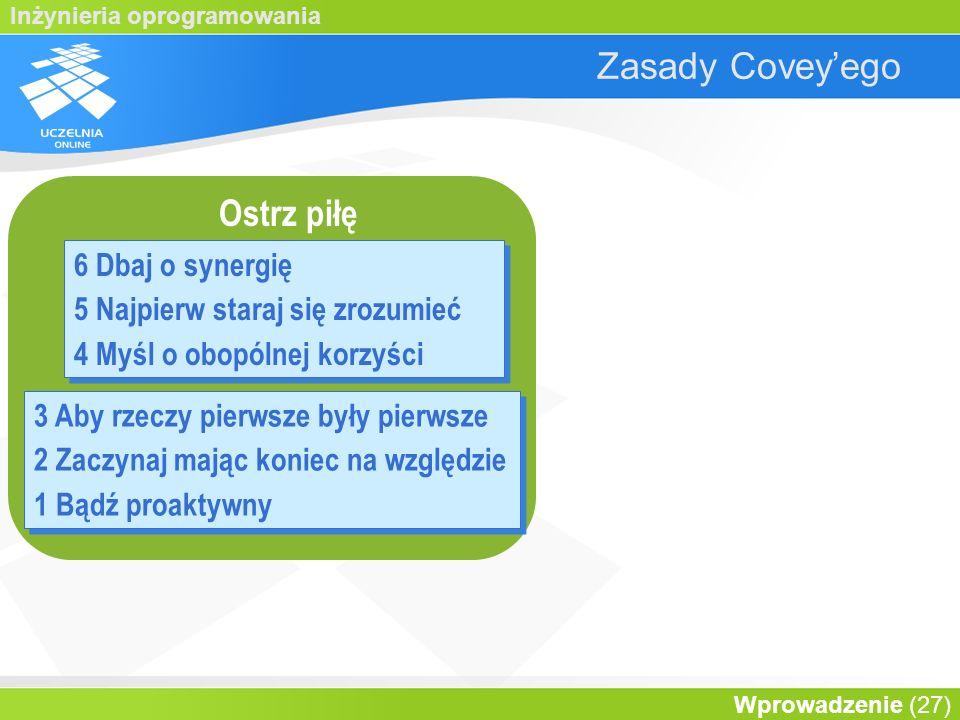 Zasady Covey'ego Ostrz piłę 6 Dbaj o synergię