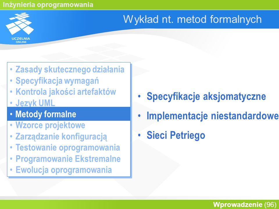 Wykład nt. metod formalnych