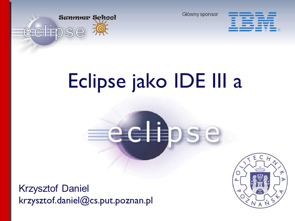 Eclipse jako IDE III a