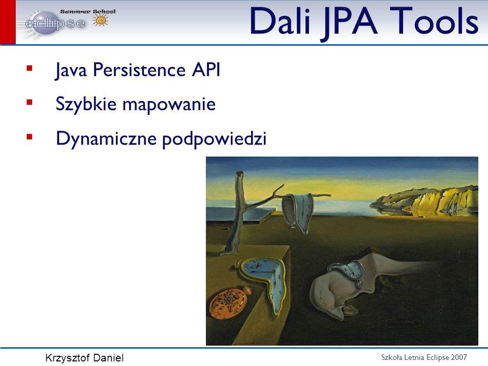 Dali JPA Tools Java Persistence API Szybkie mapowanie