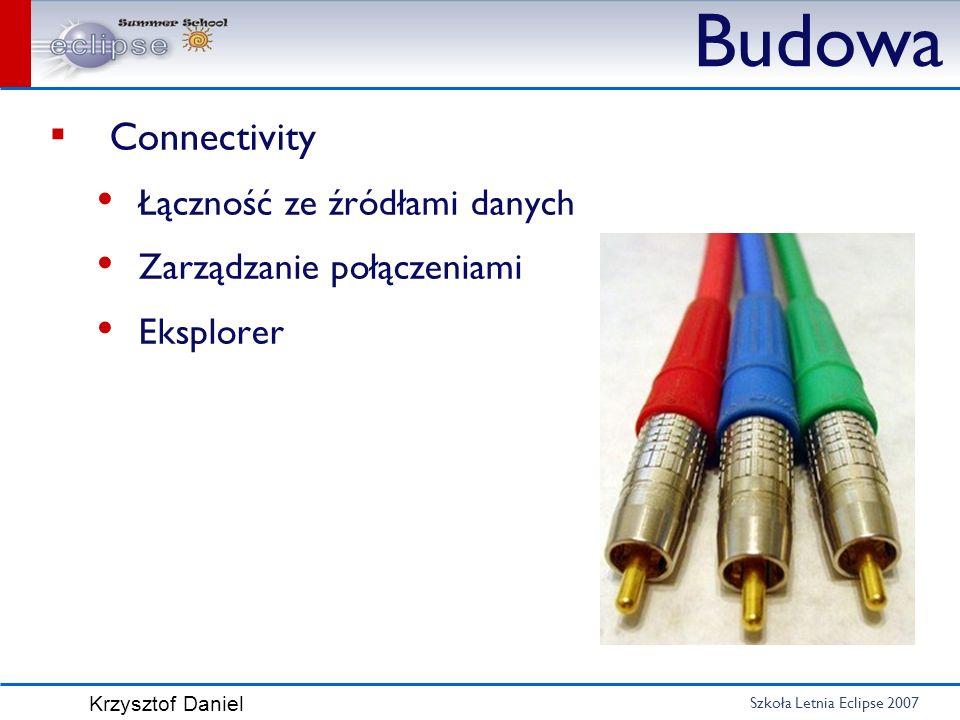 Budowa Connectivity Łączność ze źródłami danych