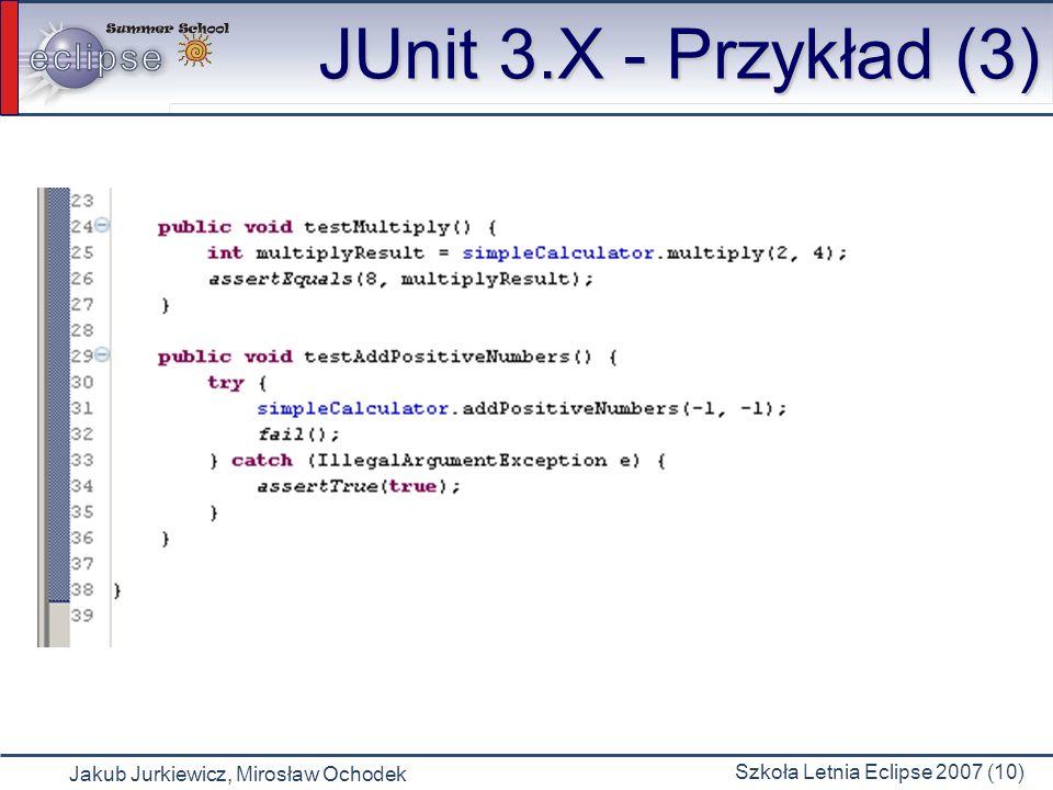 JUnit 3.X - Przykład (3)