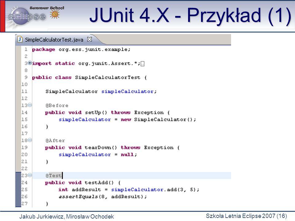 JUnit 4.X - Przykład (1)