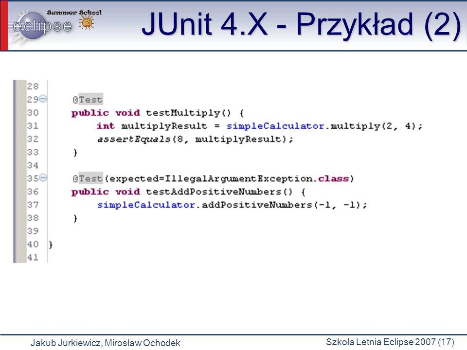 JUnit 4.X - Przykład (2)