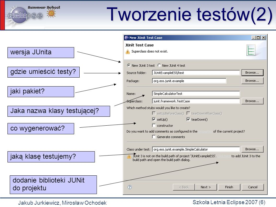 Tworzenie testów(2) wersja JUnita gdzie umieścić testy jaki pakiet