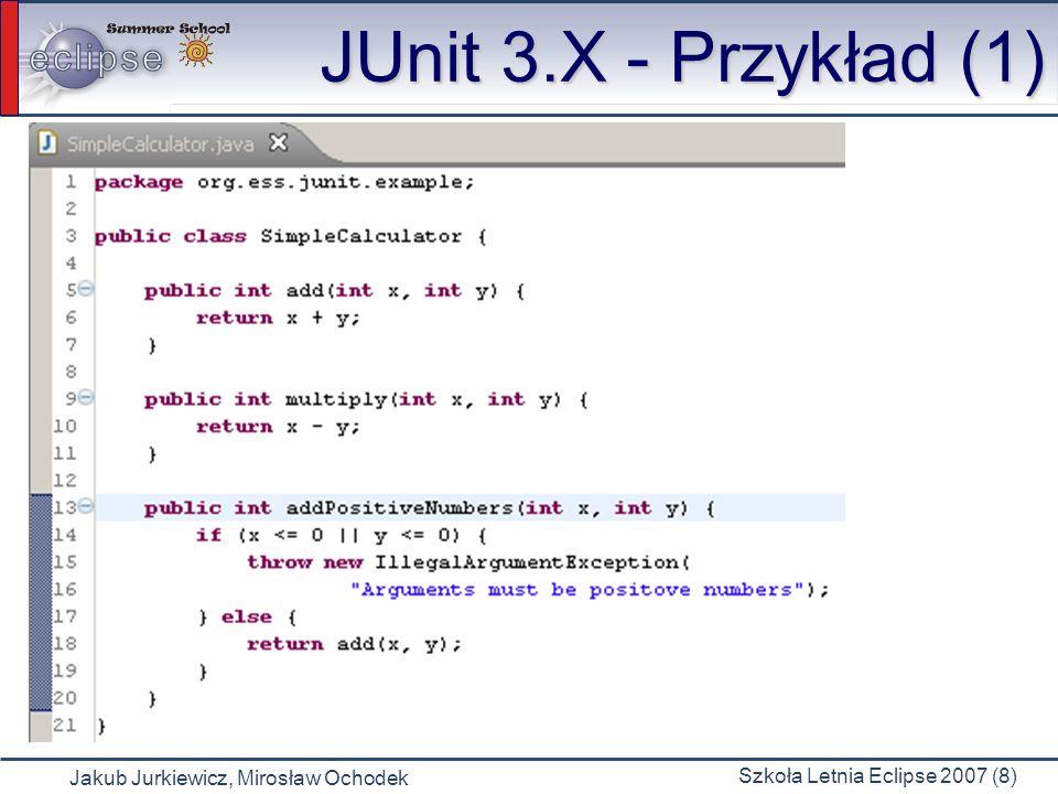 JUnit 3.X - Przykład (1)