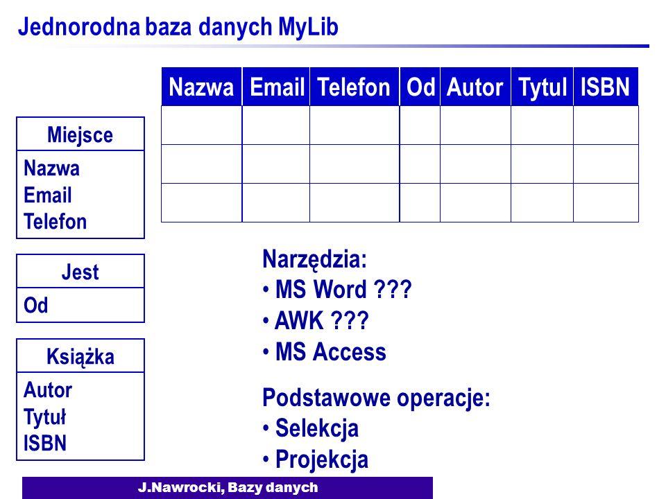 Jednorodna baza danych MyLib