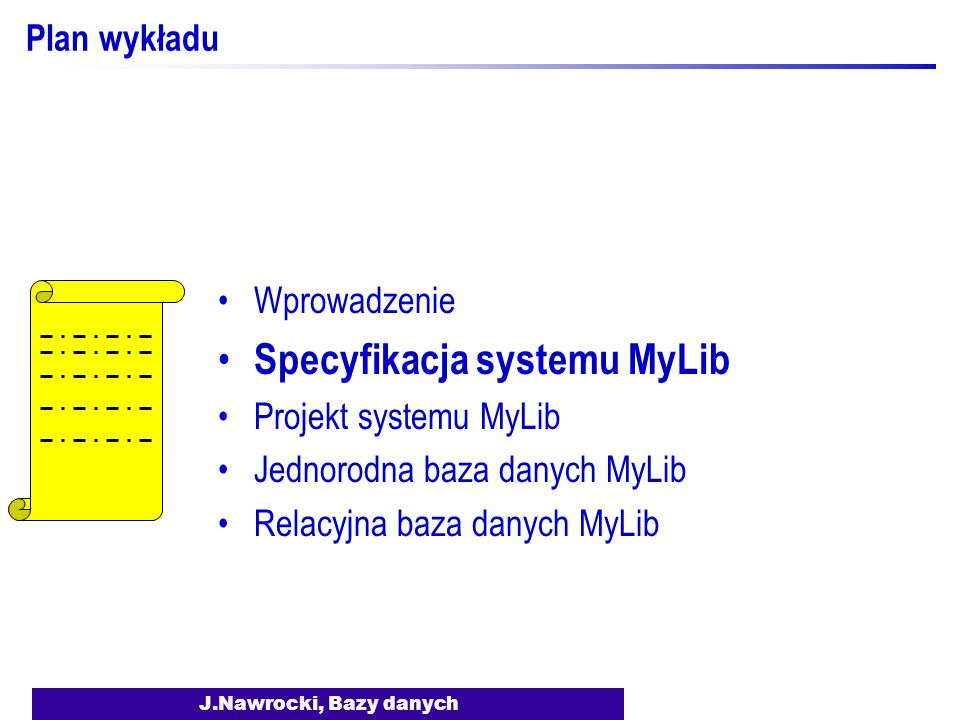 Specyfikacja systemu MyLib