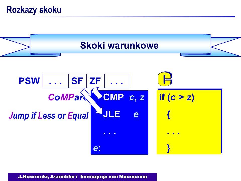 J.Nawrocki, Asembler i koncepcja von Neumanna