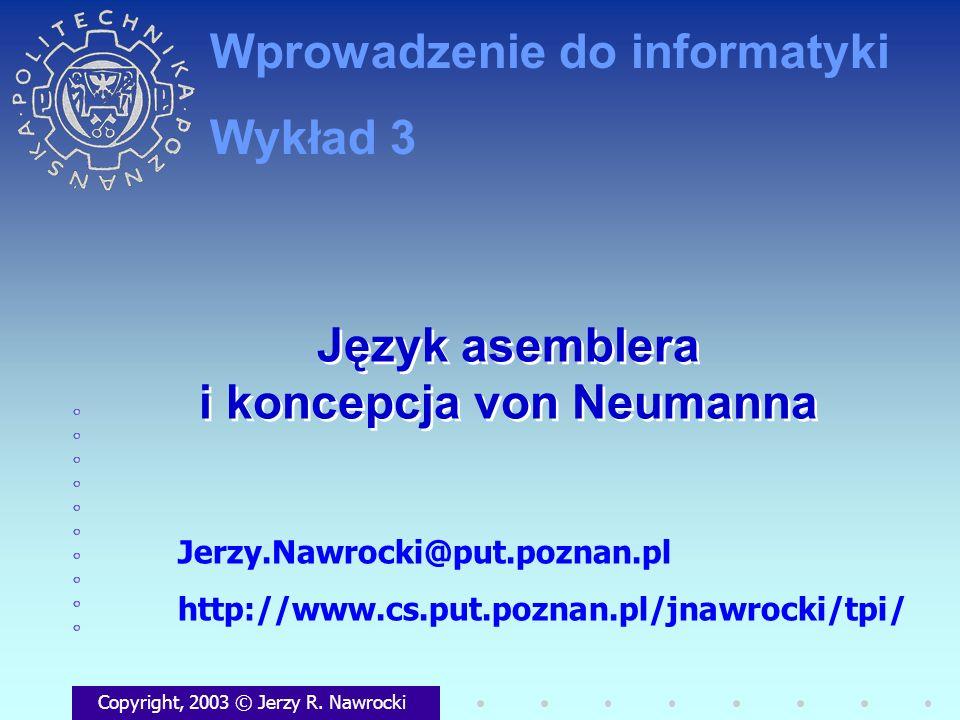 Język asemblera i koncepcja von Neumanna