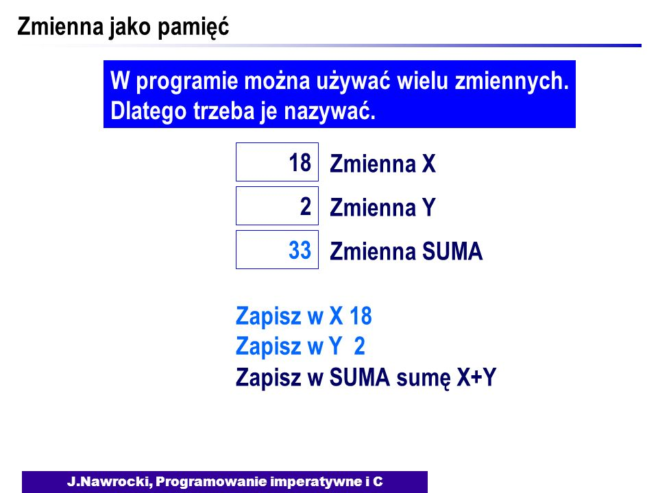 J.Nawrocki, Programowanie imperatywne i C