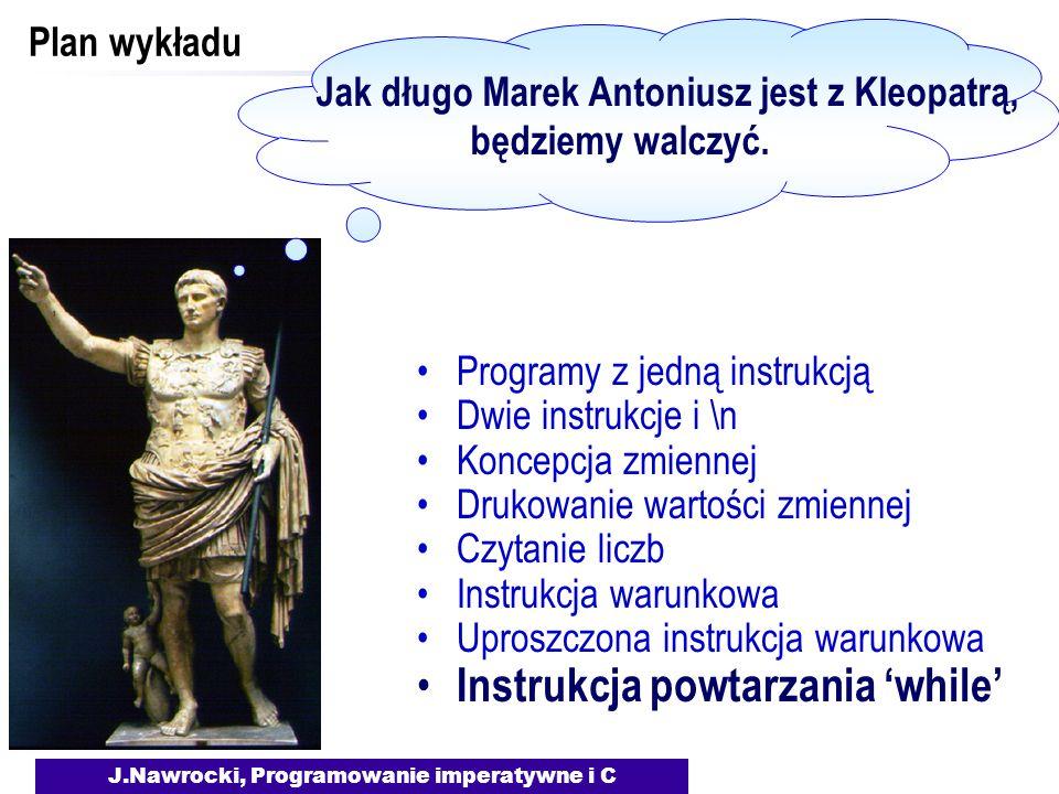 Jak długo Marek Antoniusz jest z Kleopatrą,