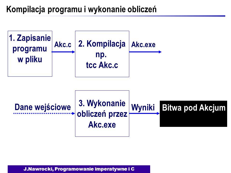 Kompilacja programu i wykonanie obliczeń