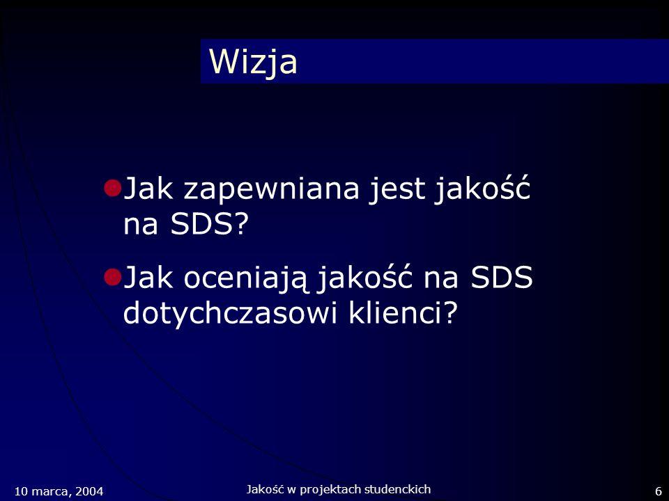 Wizja Jak zapewniana jest jakość na SDS