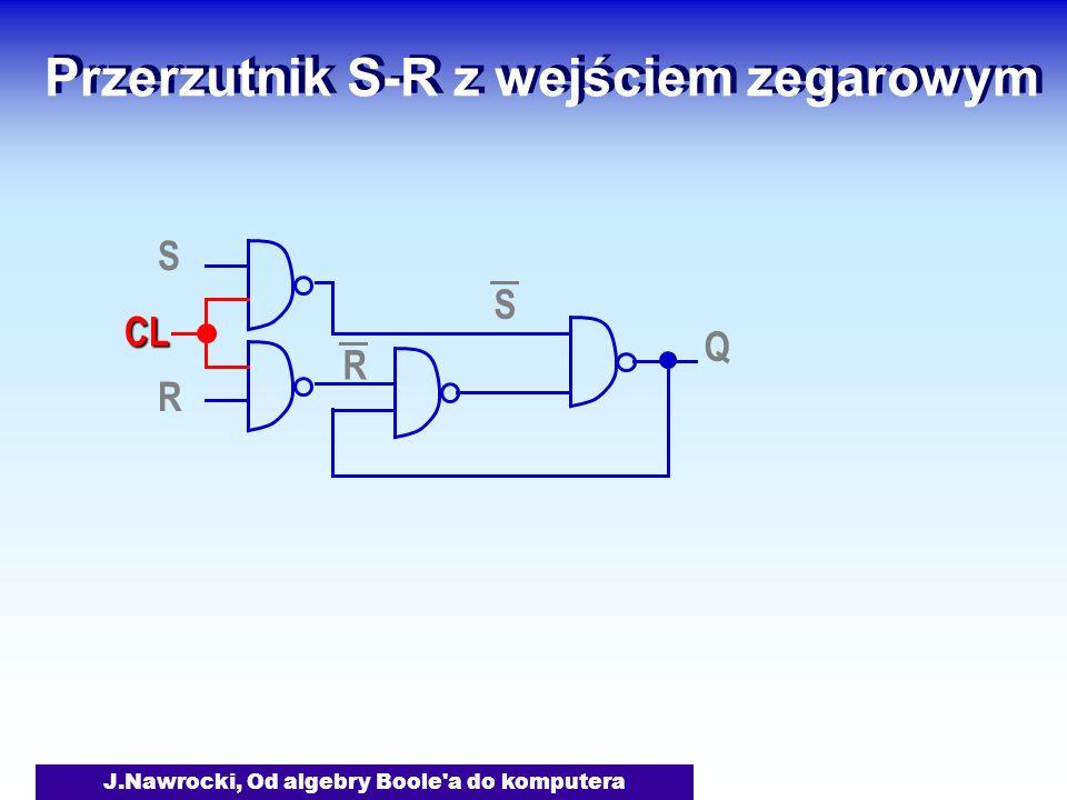 Przerzutnik S-R z wejściem zegarowym