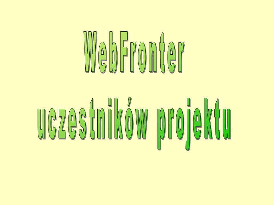 WebFronter uczestników projektu