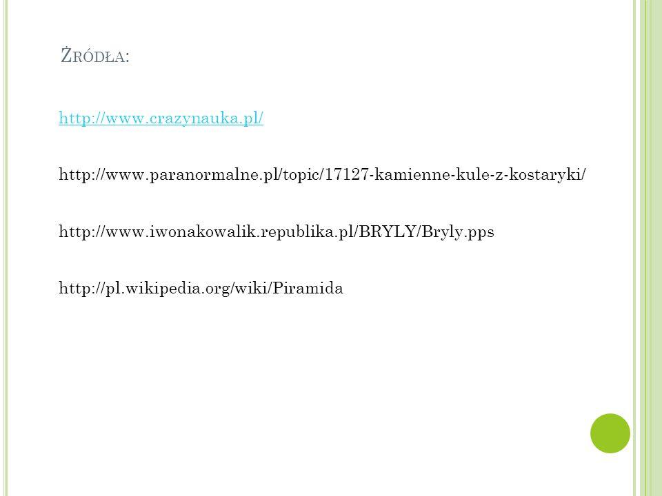 Żródła: http://www.crazynauka.pl/