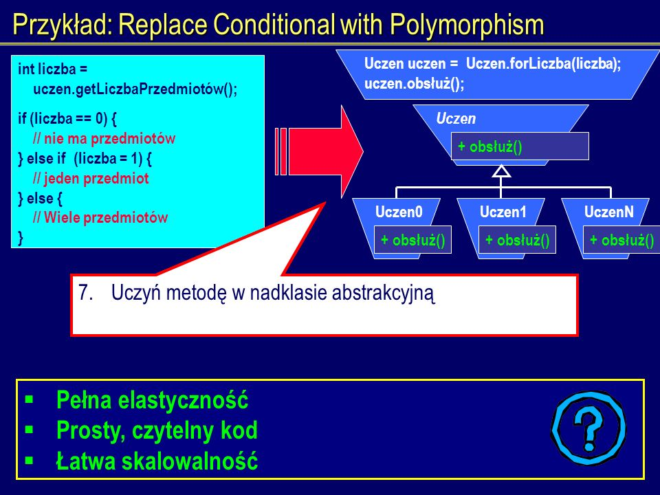 Przykład: Replace Conditional with Polymorphism