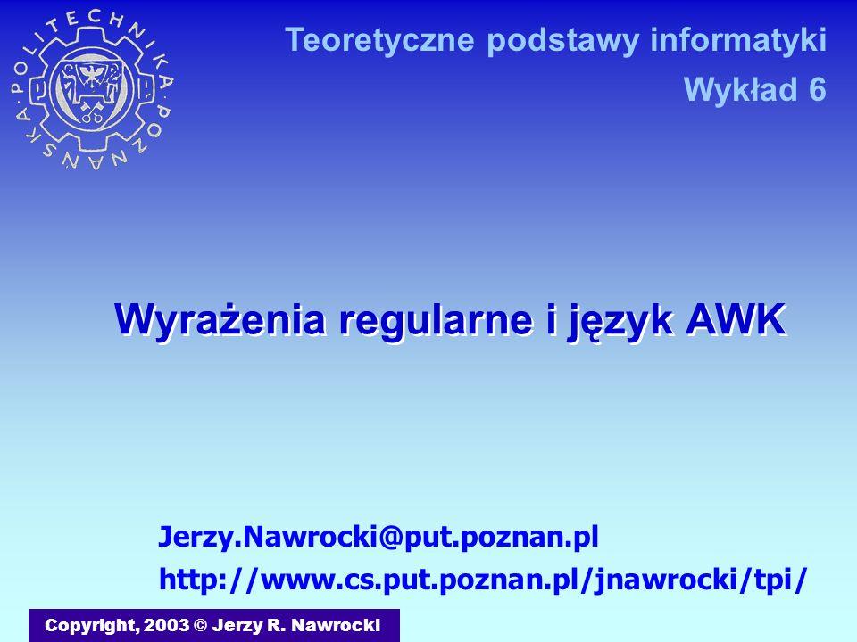 Wyrażenia regularne i język AWK
