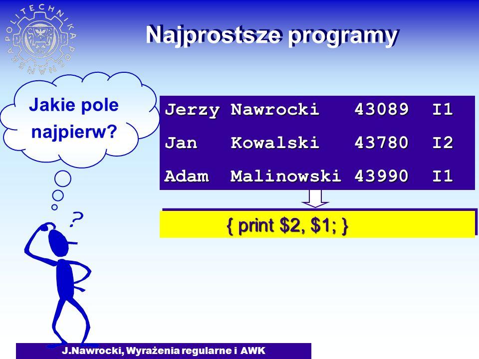 J.Nawrocki, Wyrażenia regularne i AWK