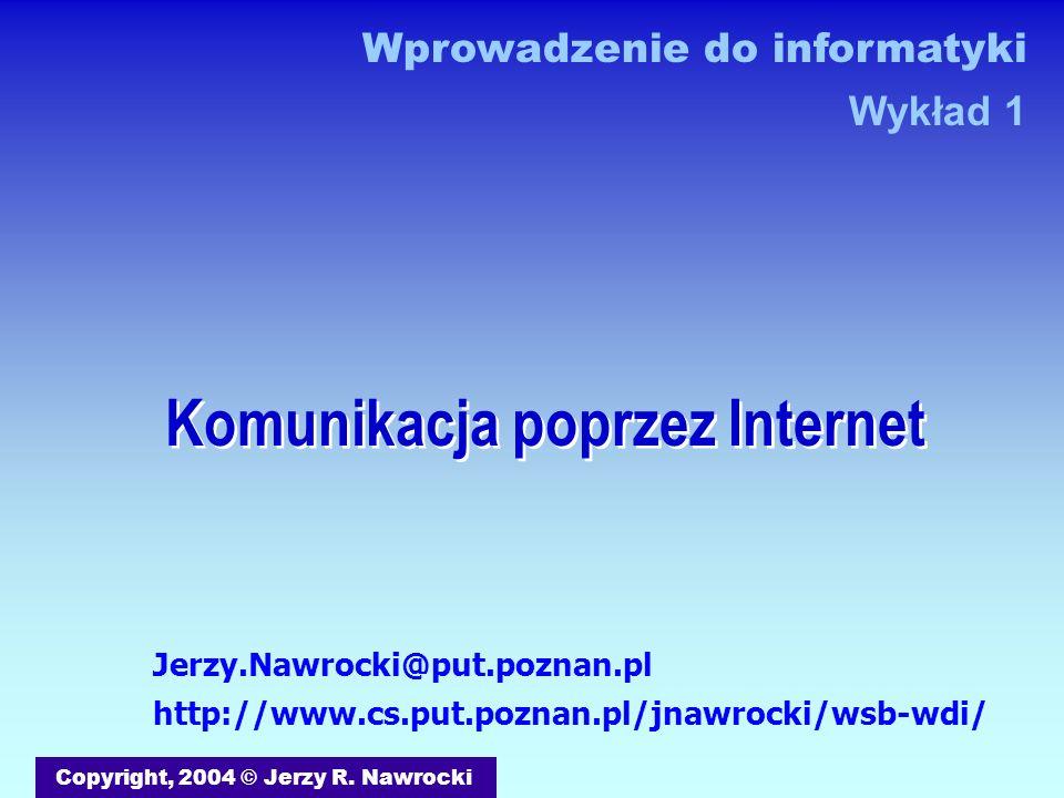 Komunikacja poprzez Internet