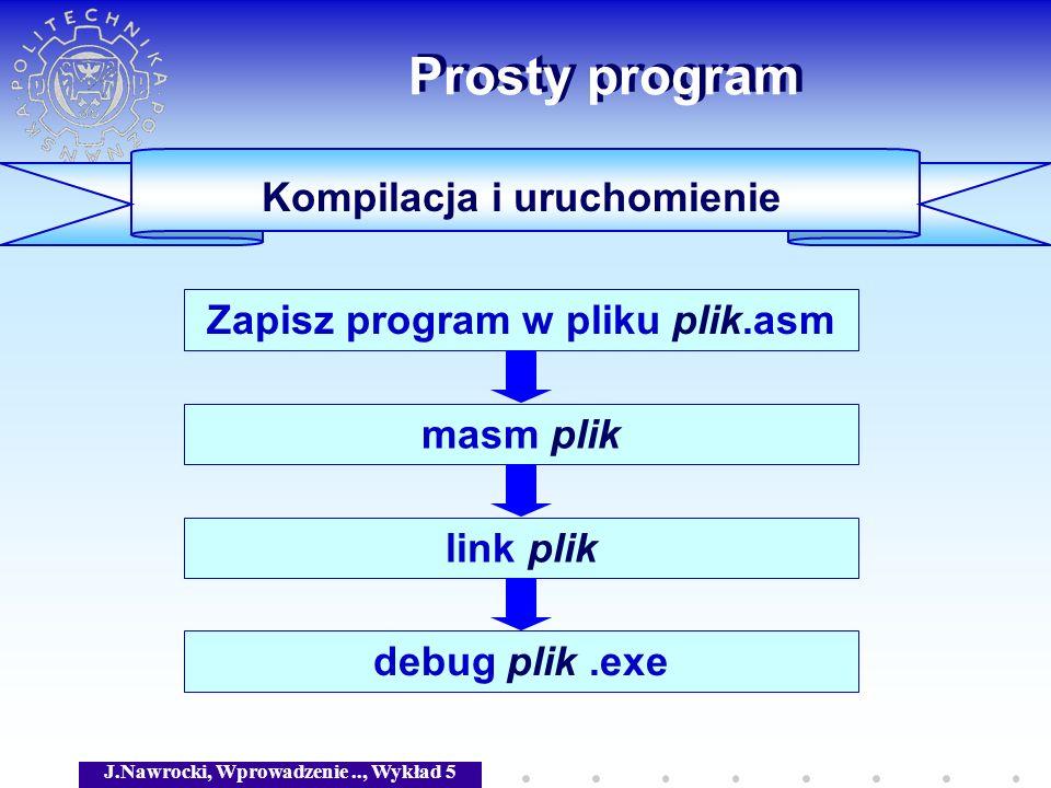 Prosty program Kompilacja i uruchomienie