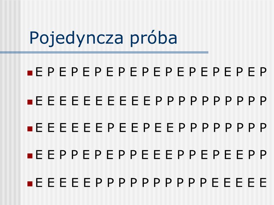 Pojedyncza próba E P E P E P E P E P E P E P E P E P E P