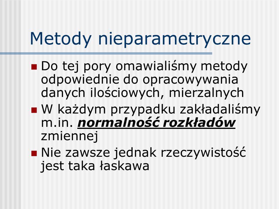 Metody nieparametryczne