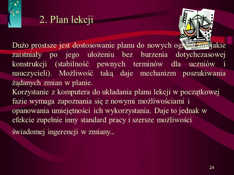 G. G.2. Plan lekcji.