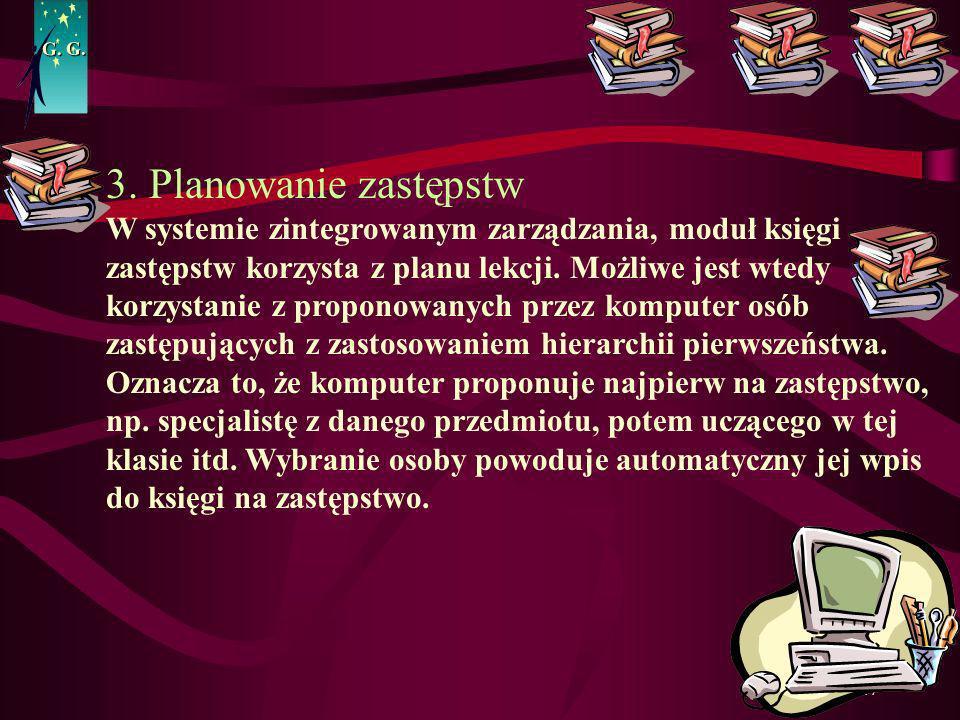 G. G. 3. Planowanie zastępstw.