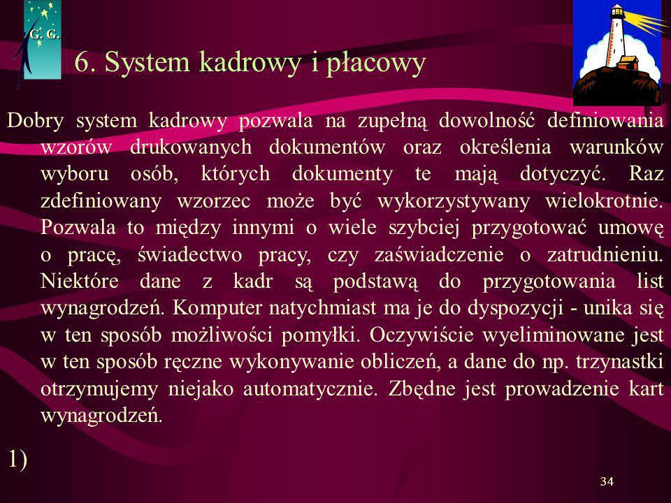 6. System kadrowy i płacowy
