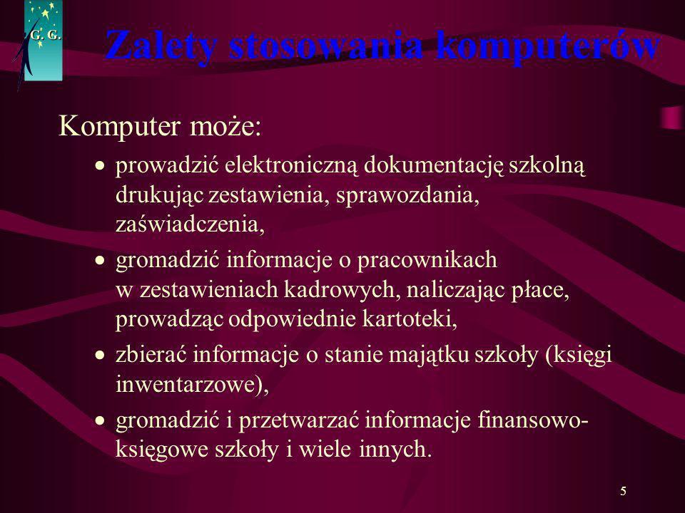 Zalety stosowania komputerów