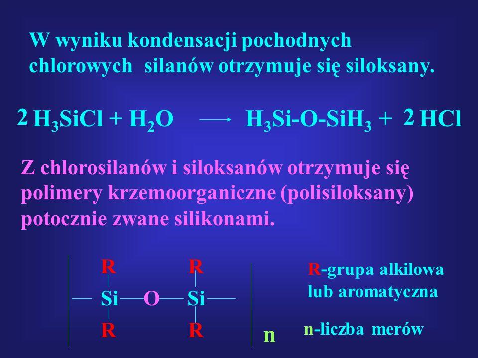 H3SiCl + H2O H3Si-O-SiH3 + HCl 2 2