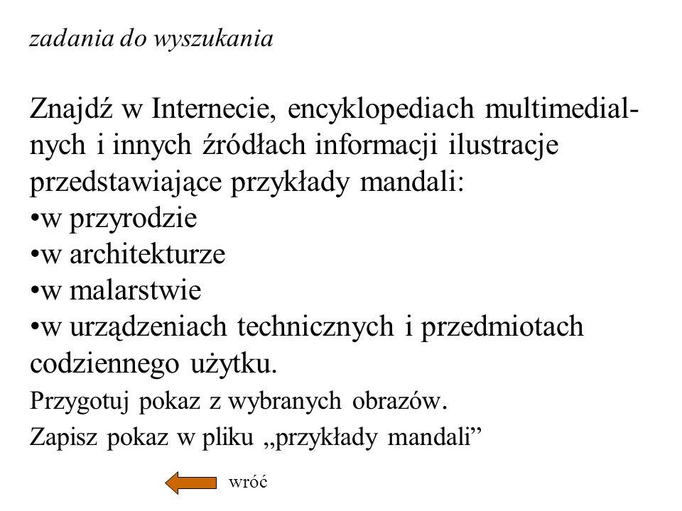 Znajdź w Internecie, encyklopediach multimedial-
