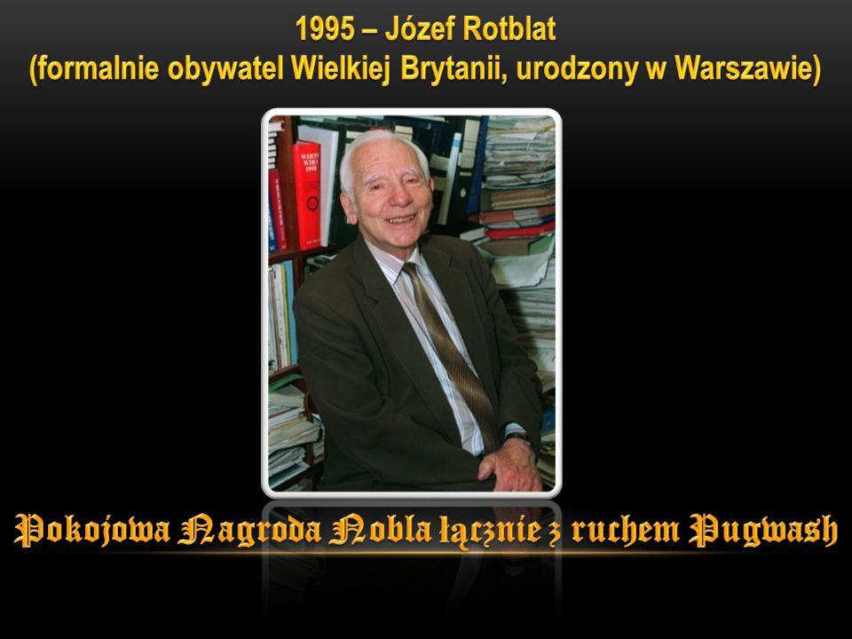 Pokojowa Nagroda Nobla łącznie z ruchem Pugwash