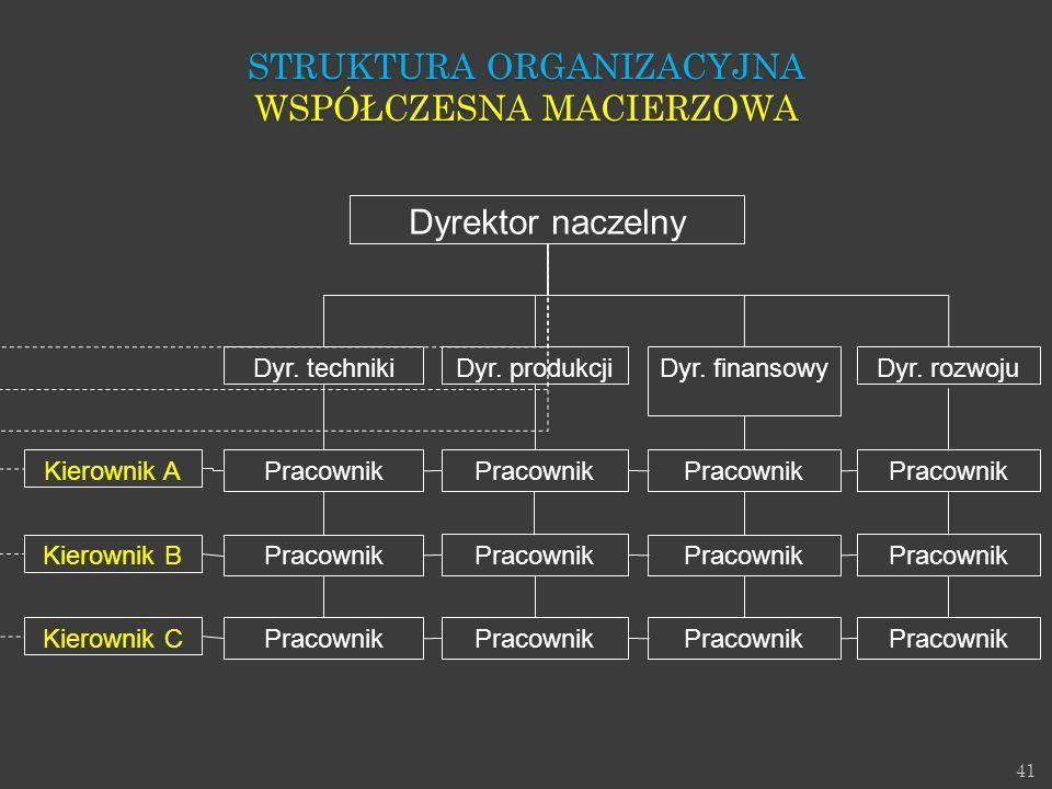 Struktura Organizacyjna Współczesna macierzowa