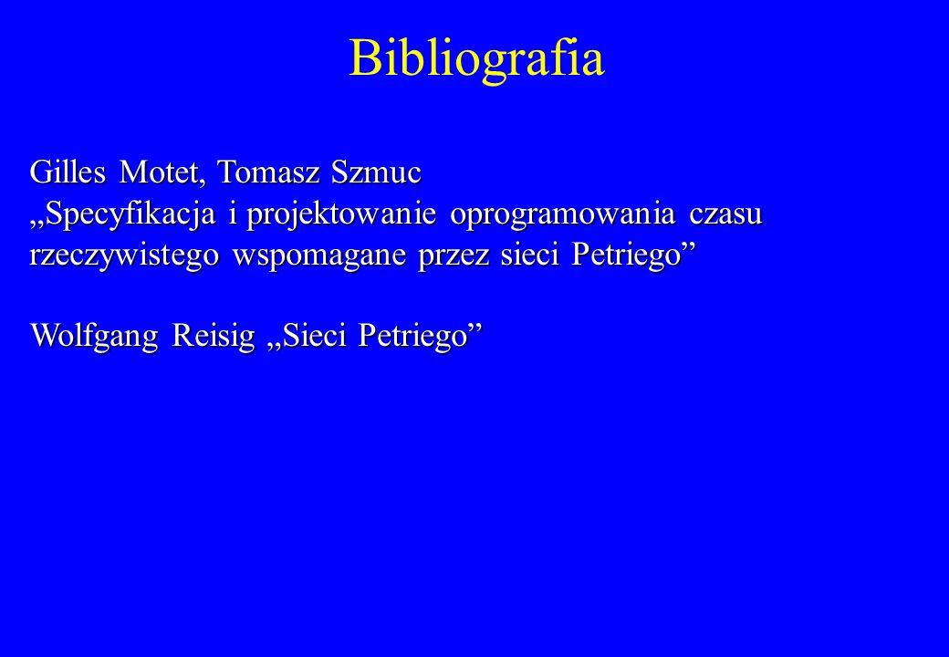 Bibliografia Gilles Motet, Tomasz Szmuc
